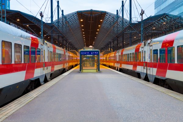 Central Railway Station In Helsinki, Finland